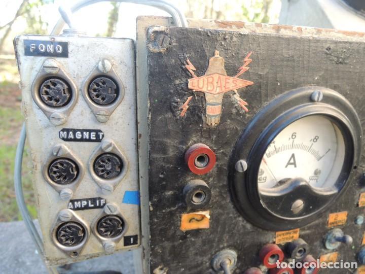 Radios antiguas: RADIO AMPLIFICADOR RARO DE LA MARCA LUBAES CON VÁLVULAS - Foto 5 - 127970086