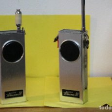 Radios antiguas: WALKIE TALKIES SHARP TWINCOMM50 AÑO 1966. Lote 120551303