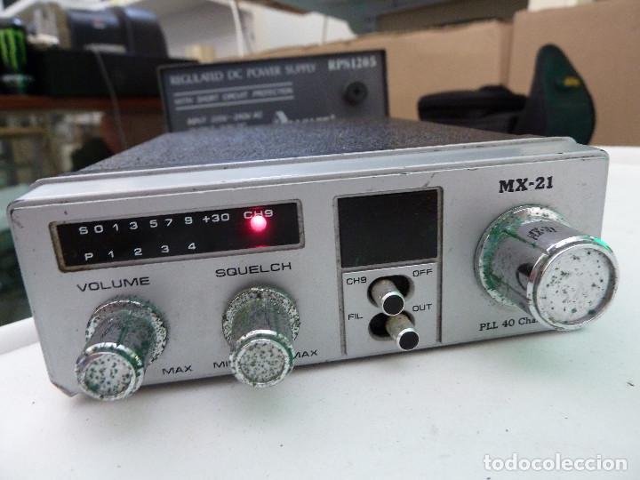 Radios antiguas: EMISORA DE RADIOAFICIONADO BANDA CIUDADANA CB MAXON MX-21 - Foto 2 - 124646863