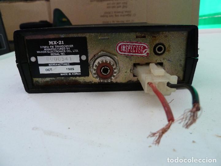 Radios antiguas: EMISORA DE RADIOAFICIONADO BANDA CIUDADANA CB MAXON MX-21 - Foto 6 - 124646863