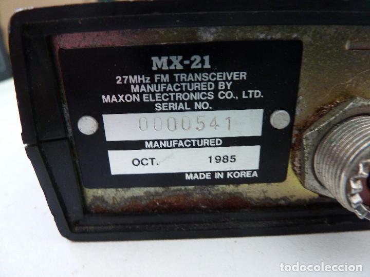Radios antiguas: EMISORA DE RADIOAFICIONADO BANDA CIUDADANA CB MAXON MX-21 - Foto 7 - 124646863