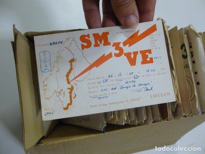 Radios antiguas: Gran lote de tarjetas QSL radioaficionados aproximadamente 500 de distintos paises - Foto 4 - 129124111