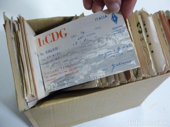 Radios antiguas: Gran lote de tarjetas QSL radioaficionados aproximadamente 500 de distintos paises - Foto 6 - 129124111