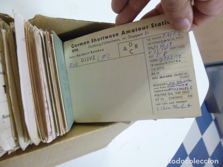 Radios antiguas: Gran lote de tarjetas QSL radioaficionados aproximadamente 500 de distintos paises - Foto 12 - 129124111
