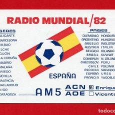 Radios antiguas: QSL RADIOAFICIONADO - AMATEUR RADIO - RADIO MUNDIAL 82 - AM5ACN. Lote 135529054