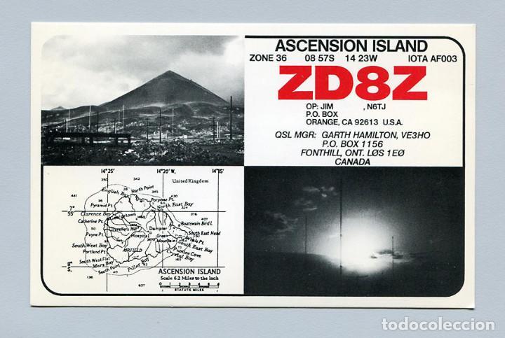 QSL RADIOAFICIONADO DX - ZD8Z ISLA ASCENSION - RARA (Radios, Gramófonos, Grabadoras y Otros - Radioaficionados)