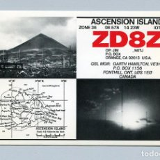 Radios antiguas: QSL RADIOAFICIONADO DX - ZD8Z ISLA ASCENSION - RARA. Lote 135529658