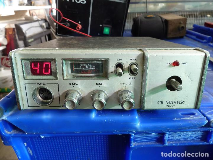 EMISORA DE RADIOAFICIONADO BANDA CIUDADANA CB MASTER 2080 (Radios, Gramófonos, Grabadoras y Otros - Radioaficionados)