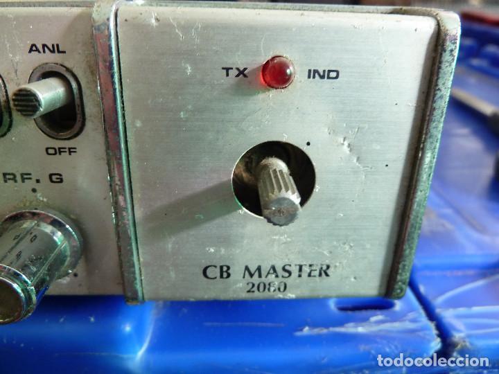 Radios antiguas: EMISORA DE RADIOAFICIONADO BANDA CIUDADANA CB MASTER 2080 - Foto 3 - 135668075