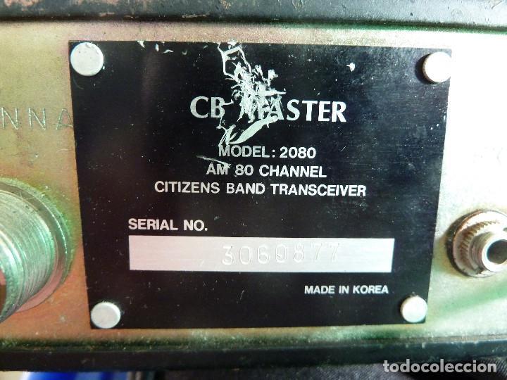 Radios antiguas: EMISORA DE RADIOAFICIONADO BANDA CIUDADANA CB MASTER 2080 - Foto 8 - 135668075