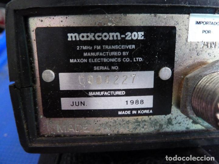 Radios antiguas: EMISORA DE RADIOAFICIONADO BANDA CIUDADANA CB MAXCOM MX-20E - Foto 8 - 135688203