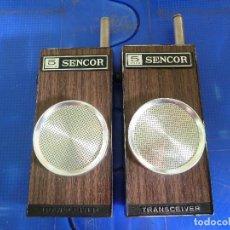 Radios antiguas: PAREJA DE WALKIE TALKIE SENCOR. Lote 136360150