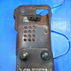 Radios antiguas: FUNDA DE CUERO PARA WALKIE TALKIE YAESU FT-23R. Lote 136362558