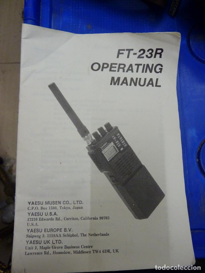 Usado, MANUAL DE USO DEL WALKIE TALKIE YAESU FT-23R segunda mano