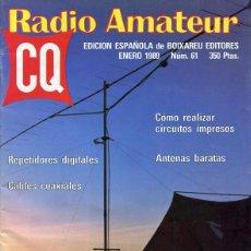 Radios antiguas: 7 REVISTAS CQ RADIO AMATEUR - RADIOAFICIONADOS - EDICION ESPAÑOLA. Lote 138216786
