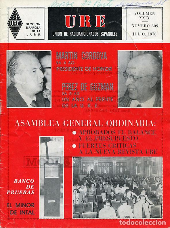Radios antiguas: 11 REVISTAS URE - UNION RADIOAFICIONADOS ESPAÑOLES - 1978 (AÑO COMPLETO) - Foto 7 - 138219870
