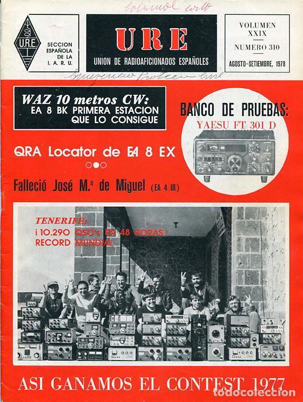 Radios antiguas: 11 REVISTAS URE - UNION RADIOAFICIONADOS ESPAÑOLES - 1978 (AÑO COMPLETO) - Foto 8 - 138219870