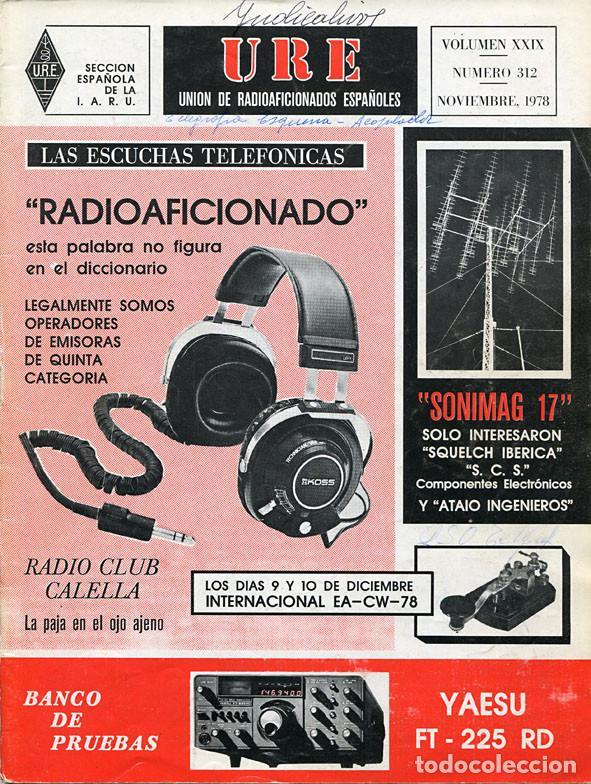 Radios antiguas: 11 REVISTAS URE - UNION RADIOAFICIONADOS ESPAÑOLES - 1978 (AÑO COMPLETO) - Foto 10 - 138219870