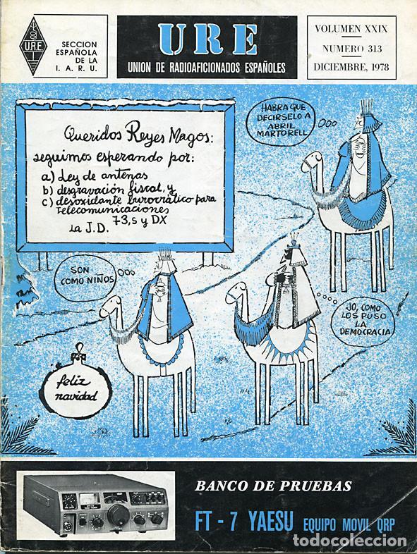 Radios antiguas: 11 REVISTAS URE - UNION RADIOAFICIONADOS ESPAÑOLES - 1978 (AÑO COMPLETO) - Foto 11 - 138219870