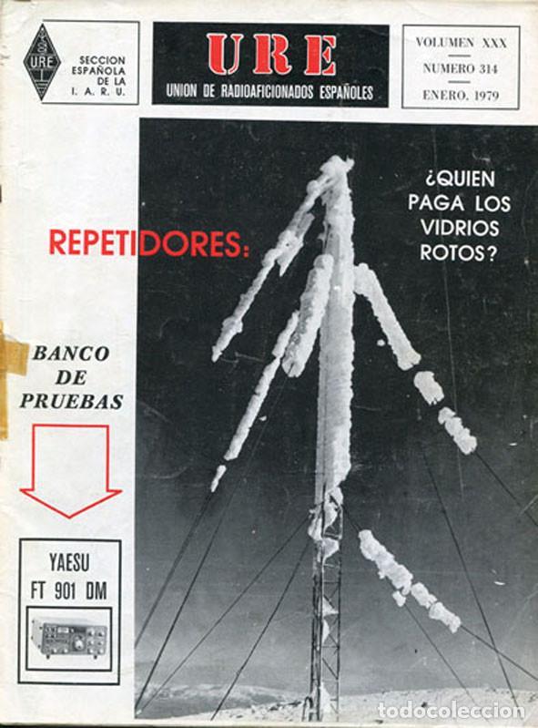 LOTE 11 REVISTAS URE - UNION RADIOAFICIONADOS ESPAÑOLES - 1979 (AÑO COMPLETO) (Radios, Gramófonos, Grabadoras y Otros - Radioaficionados)