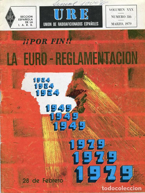 Radios antiguas: LOTE 11 REVISTAS URE - UNION RADIOAFICIONADOS ESPAÑOLES - 1979 (AÑO COMPLETO) - Foto 3 - 138617478