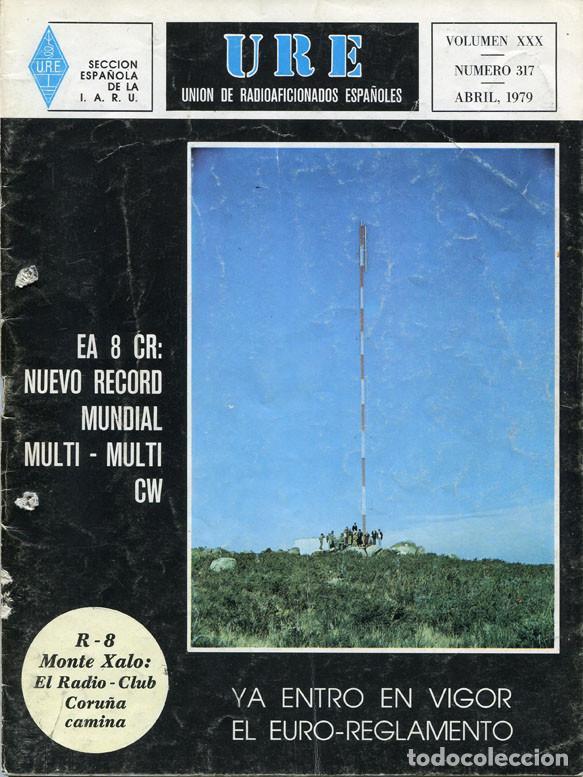 Radios antiguas: LOTE 11 REVISTAS URE - UNION RADIOAFICIONADOS ESPAÑOLES - 1979 (AÑO COMPLETO) - Foto 4 - 138617478