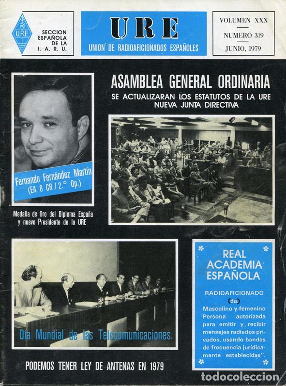 Radios antiguas: LOTE 11 REVISTAS URE - UNION RADIOAFICIONADOS ESPAÑOLES - 1979 (AÑO COMPLETO) - Foto 6 - 138617478