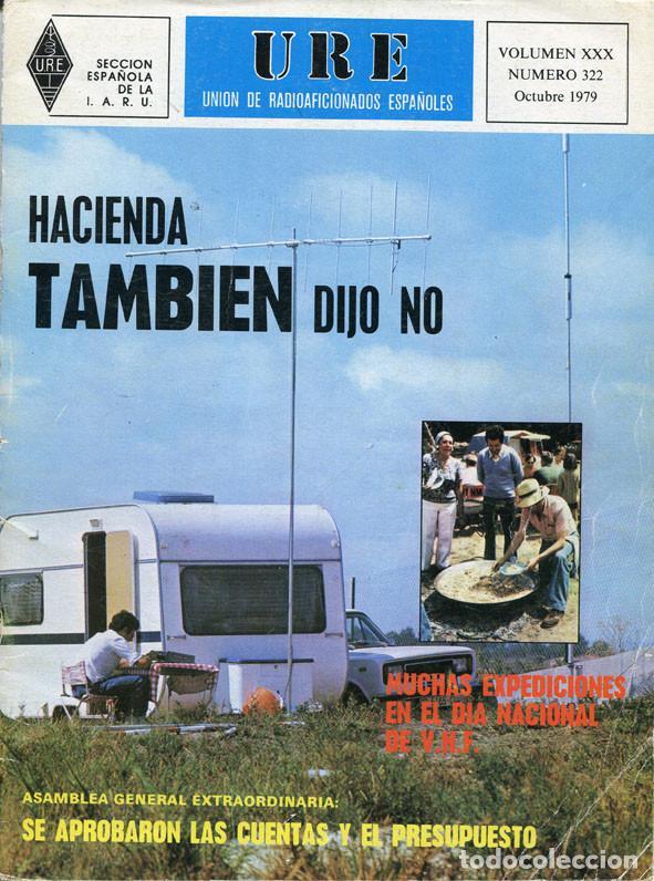 Radios antiguas: LOTE 11 REVISTAS URE - UNION RADIOAFICIONADOS ESPAÑOLES - 1979 (AÑO COMPLETO) - Foto 9 - 138617478
