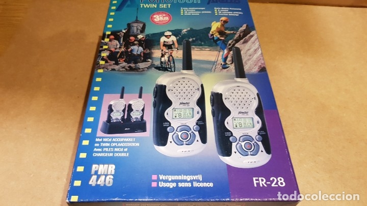 Radios antiguas: PAREJA DE WALKIES / FAMILY RADIO TWIN SET / ALECTO - FR 28 / COMPLETO Y NUEVO / SIN COMPROBAR. - Foto 8 - 139444138