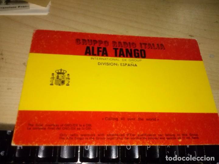 GRUPO RADIO ITALIA ALFA TANGO INTERNACIONAL DX GROUP DIVISION ESPAÑA 1991 (Radios, Gramófonos, Grabadoras y Otros - Radioaficionados)