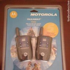 Radios antiguas: WALKIE TALKIE MOTOROLA TALKABOUT T4502 PMR446. Lote 142663653