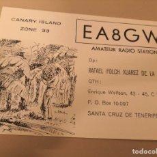 Radios antiguas: POSTAL, TARJETA CONFIRMA , MOTIVO CANARY ISLAND ZONE 33. RADIO STATION AMATEUR. Lote 147305314