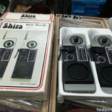 Radios antiguas: SHIRA WALKIE TALKIE SET CON SU CAJA. Lote 147510338