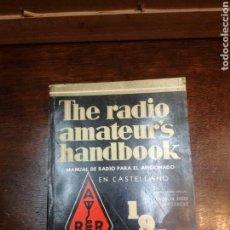 Radios antiguas: MANUAL DE RADIO PARA AFICIONADOS. Lote 154878329