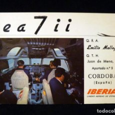 Radios antiguas: TARJETA POSTAL QSL RADIOAFICIONADO. EA7II - CÓRDOBA, 1973. IBERIA. RADIO AFICIONADO. Lote 163971850