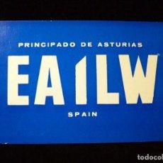 Radios antiguas: TARJETA POSTAL QSL RADIOAFICIONADO. EA1LW - AVILÉS (ASTURIAS), 1987. RADIO AFICIONADO. Lote 163974202