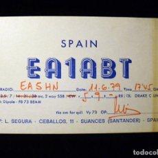 Radios antiguas: TARJETA POSTAL QSL RADIOAFICIONADO. EA1ABT - SUANCES (SANTANDER), 1979. RADIO AFICIONADO . Lote 163974722