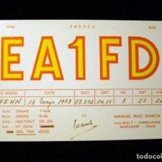 Radios antiguas: TARJETA POSTAL QSL RADIOAFICIONADO. EA1FD - TORRELAVEGA (SANTANDER), 1975. RADIO AFICIONADO (3). Lote 163975014