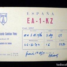 Radios antiguas: TARJETA POSTAL QSL RADIOAFICIONADO. EA1KZ - MONFORTE DE LEMOS (LUGO), 1974. RADIO AFICIONADO . Lote 163977902