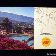 Rádios antigos: TARJETA POSTAL QSL. III CONGRESO RADIOAFICIONADOS. EA8KO - TENERIFE, 1974. SELLO TRÁFICO URE. IBERIA. Lote 163982546
