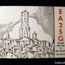 Radios antiguas: TARJETA POSTAL QSL RADIOAFICIONADO. EA2SG - TUDELA (NAVARRA), 1980. SELLO TRÁFICO URE. RADIO AFICION. Lote 163985426
