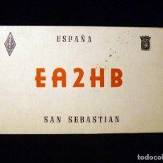 Radios antiguas: TARJETA POSTAL QSL RADIOAFICIONADO. EA2HB - SAN SEBASTIAN), 1966. RADIO AFICIONADO . Lote 163988406