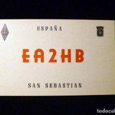 Radios antiguas: TARJETA POSTAL QSL RADIOAFICIONADO. EA2HB - SAN SEBASTIAN), 1968. RADIO AFICIONADO . Lote 163988450