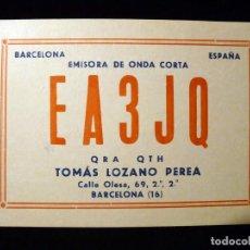 Radio antiche: TARJETA POSTAL QSL RADIOAFICIONADO. EA3JQ - BARCELONA, 1978. RADIO AFICIONADO. Lote 164018238