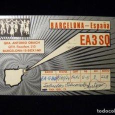 Rádios antigos: TARJETA POSTAL QSL RADIOAFICIONADO. EA3SQ - BARCELONA, 1974. RADIO AFICIONADO (2). Lote 164022814