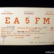 Radios antiguas: TARJETA POSTAL QSL RADIOAFICIONADO. EA5FM - BURRIANA (CASTELLÓN), 1968. RADIO AFICIONADO . Lote 164043022