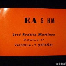 Radios antiguas: TARJETA POSTAL QSL RADIOAFICIONADO. EA5HM - VALENCIA, 1968. RADIO AFICIONADO . Lote 164045010