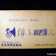 Radios antiguas: TARJETA POSTAL QSL RADIOAFICIONADO. EA5JL - CASTELLÓN, 1970. RADIO AFICIONADO . Lote 164052986