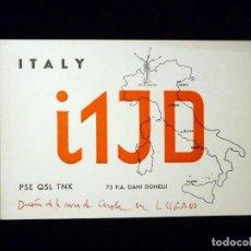 Radios antiguas - TARJETA POSTAL QSL RADIOAFICIONADO. I1JD - MILANO (ITALIA), RADIO AFICIONADO - 164518826