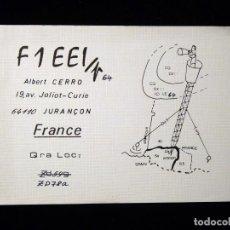 Radios antiguas: TARJETA POSTAL QSL RADIOAFICIONADO. F1EEI - JURANÇON (FRANCIA), 1978. RADIO AFICIONADO . Lote 164592250